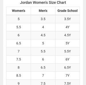 6y jordans is what size in women's